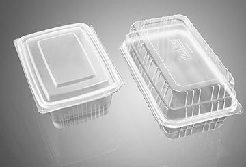 Transparent salad containers